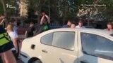 Акция-перформанс партии «Гирчи – больше свободы» у здания СГБ