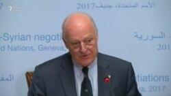 Спецпосланник ООН по Сирии Стаффан де Мистура на переговорах в Женеве