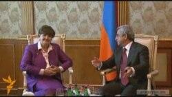 Президент Армении принял баронессу Кэролайн Кокс