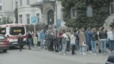 People waiting to get vaccinated in Budapest Varosmajor utca