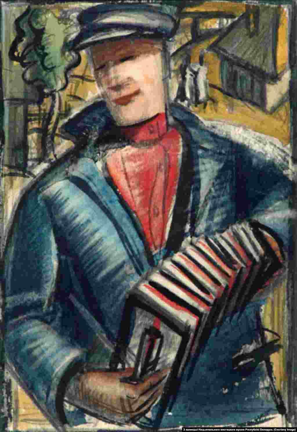 Міхась Сеўрук.Мужчынскі партрэт. 1930-я