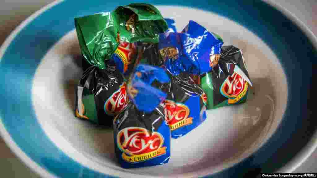 Ще у цієї фірми є цукерки із назвою «Укус женщины»
