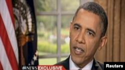 الرئيس الأميركي متحدثاً في مقابلة تلفزيونية سابقة