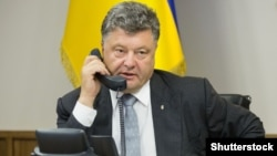 Ukrainian President of Ukraine Petro Poroshenko (file photo)