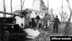 Aşgabatda 1948-nji ýylyň 6-njy oktýabrynda bolan pajygaly ýertitremeden soňky pursat.