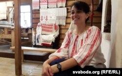 Вольга Дамаскіна, загадчыца полацкага Музэю традыцыйнага ткацтва Паазер'я