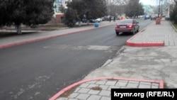 Свежий асфальт на улице Советской в Керчи