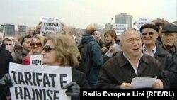 Protesta në Prishtinë