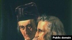 Wilhelm (L) i Jacob Grimm (D)