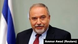 Avigdor Lieberman, ministrul demisionar al Apărării astăzi în Knesset la Ierusalim