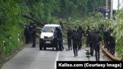 Zyrtari rus i UNMIK-ut Mikhail Krasnoshçekov, që u ndalua të martën gjatë aksionit të Policisë së Kosovës.
