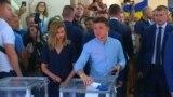 Zelenski i Porošenko glasali na parlamentarnim izborima