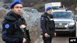 Romanian officers of the EULEX mission in Kosovo (file photo)