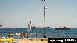 На траверзе Феодосийского залива