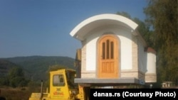 One of the Mancic family's portable churches (photo courtesy of www.danas.rs)