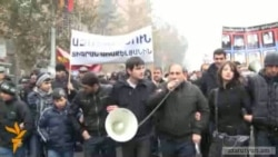 Armenian Opposition March on Human Rights Day
