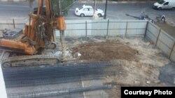 Azerbaijan - Cunstruction site in Baku