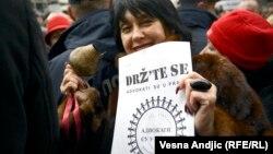 Sa jednog od protesta advokata u Beogradu