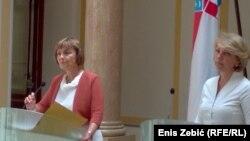 Hrvatska ministrica vanjskih poslova Vesna Pusić i hrvatska ekspertica Andrea Metelko Zgombić