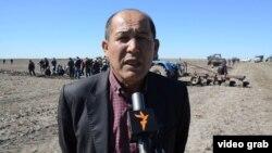 «Ақтөбе и К» серіктестігінің басшысы Нұрлан Ізбаев. Қызылорда облысы, Ақтөбе ауылы, 29 сәуір 2015 жыл.