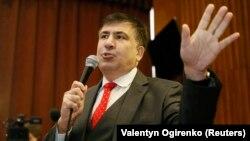 """Украинадагы """"Жаңы күчтөр кыймылынын"""" лидери Михаил Саакашвили."""