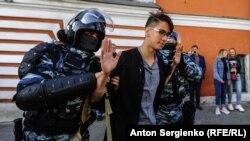 У столиці Росії Москві затримали понад 250 людей