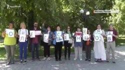 Сенцов – это Василий Стус сегодня: участница акции в Москве (видео)