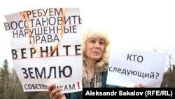 Жительница Томска Галина Шергина на акции протеста (архивное фото)