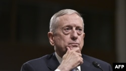 Retired Marine Corps general James Mattis testified before the Senate Armed Services Committee on Capitol Hill in Washington on January 12.