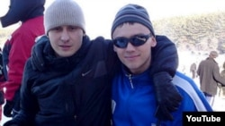 Denis Burakov (left) died when the orb he was riding in went out of control and plunged down a gorge.