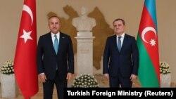 Թուրքիայի և Ադրբեջանի ԱԳ նախարարներ Մևլութ Չավուշօղլու և Ջեյհուն Բայրամով, արխիվ