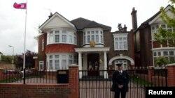 Здание посольства КНДР в Лондоне.