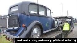 Rolls-Royce, які беларус спрабаваў правезьці па фальшывых дакумэнтах