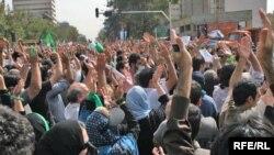 گوشهای از تظاهرات اعتراضی روز قدس در تهران