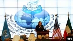 Сирия боюнча донорлор конференциясы. Кувейт, 31-март, 2015-жыл.