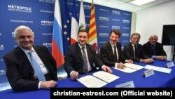 Мер Ніцци і делегація з Ялти на чолі з головою адміністрації Ялти Андрієм Ростенком