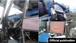 Վթարի ենթարկված ավտոբուսը, լուսանկարը՝ ՀՀ ԱԻՆ-ի