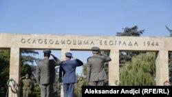 Groblje oslobodilaca Beograda, arhivska fotografija