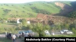 Оползень в Алмалуу-Булак, 27 апреля.