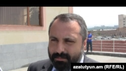 Armenia -- Davit Babayan, the Karabakh Armenian presidential spokesman, speaks in Yerevan.