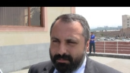 Armenia -- David Babayan, the Karabakh presidential spokesman, speaks in Yerevan.