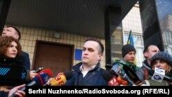 Керівник Спеціалізованої антикорупційної прокуратури Назар Холодницький, який сьогодні прийшов в Генпрокуратуру на допит