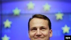 Министр иносмтранных дел Польши Радослав Сикорский в Брюсселе