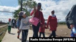 Միգրանտները մակեդոնա-սերբական սահմանին