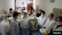 Iran - Clerics visiting coronavirus patients in Tehran. Undated