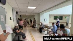 Казан поликлиникасында вакцинага чират