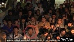 Скриншот видео о «казахах, уехавших на джихад в Сирию». Красным кругом выделен Максат Аймаханов.