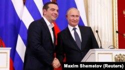Alexis Tsipras și Vladimir Putin, Moscova 7 decembrie 2018