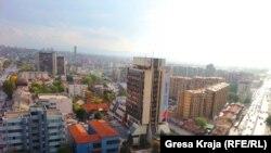 Вид на столицу Косово - Приштину