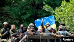 Украинские военные в Мариуполе.